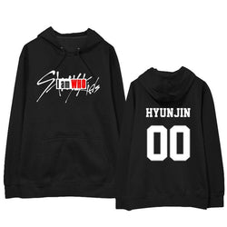 "STRAY KIDS ""I AM WHO"" NUMBER HOODIE BLACK"