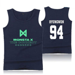 "MONSTA X ""THE CONNECT"" TANK TOP NAVY BLUE"