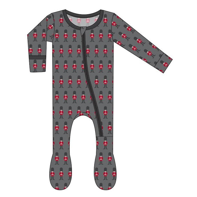 KicKee Pants Print Footie W/Snaps - Queen's Guard