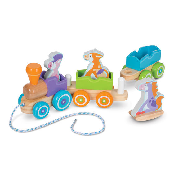 Melissa and Doug - Rocking Farm Animals Pull Train