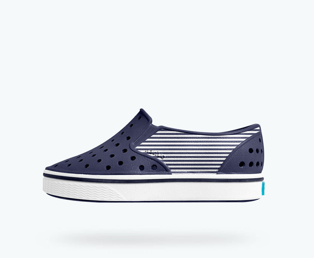 NEW! Native Miles Block Child Regatta Blue/ Shell White/ Striped Block