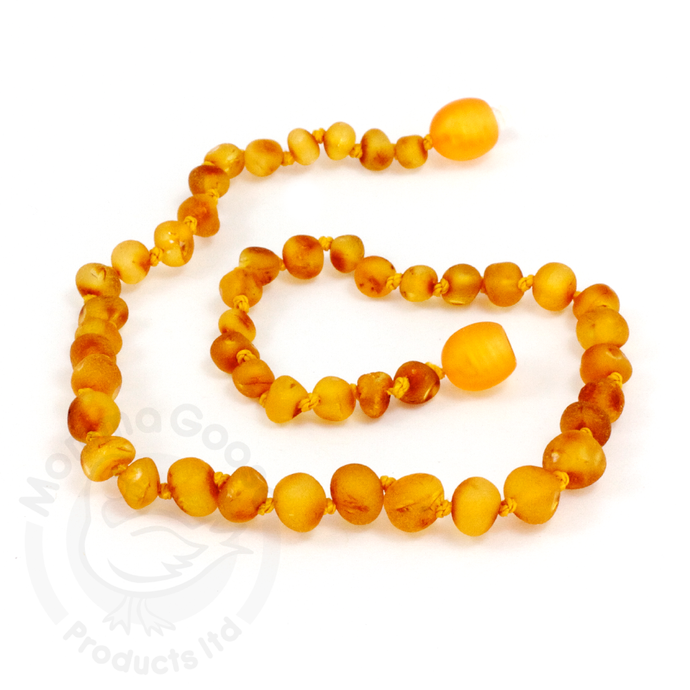 Momma Goose Amber Teething Necklace - Baroque Unpolished Honey