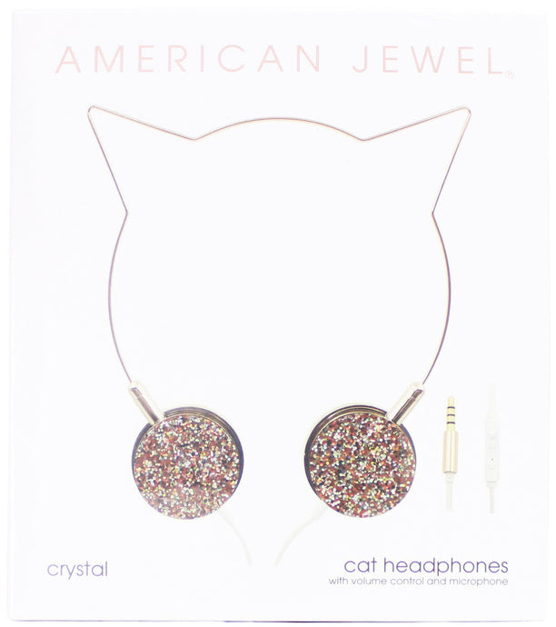 American Jewel - Cat Headphones - Crystal