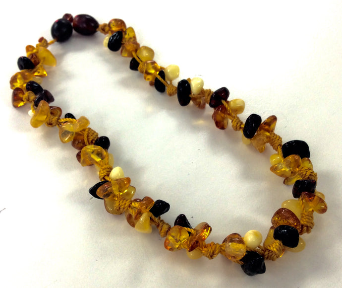 Momma Goose Amber Teething Necklace - 1048 Clusterly Gold