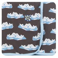 KicKee Pants Swaddling Blanket - Bark Seals