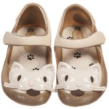 Mini Melissa Ultra Girl Cat - Golden Glitter (SALE)