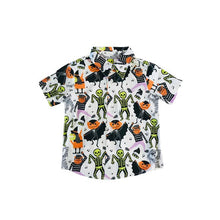 Fiveloaves Two Fish Boys Novelty Collar Shirt - Monster Mash
