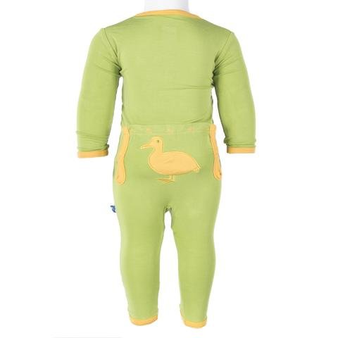 KicKee Pants Holiday Fitted Applique Coverall - Meadow Duck