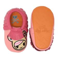 Moc Happens Leather Baby Moccasins - Donutella