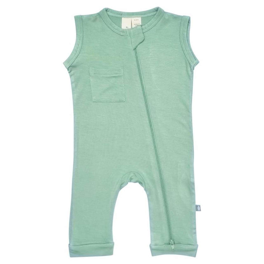 KYTE SLEEVELESS ROMPER IN MATCHA