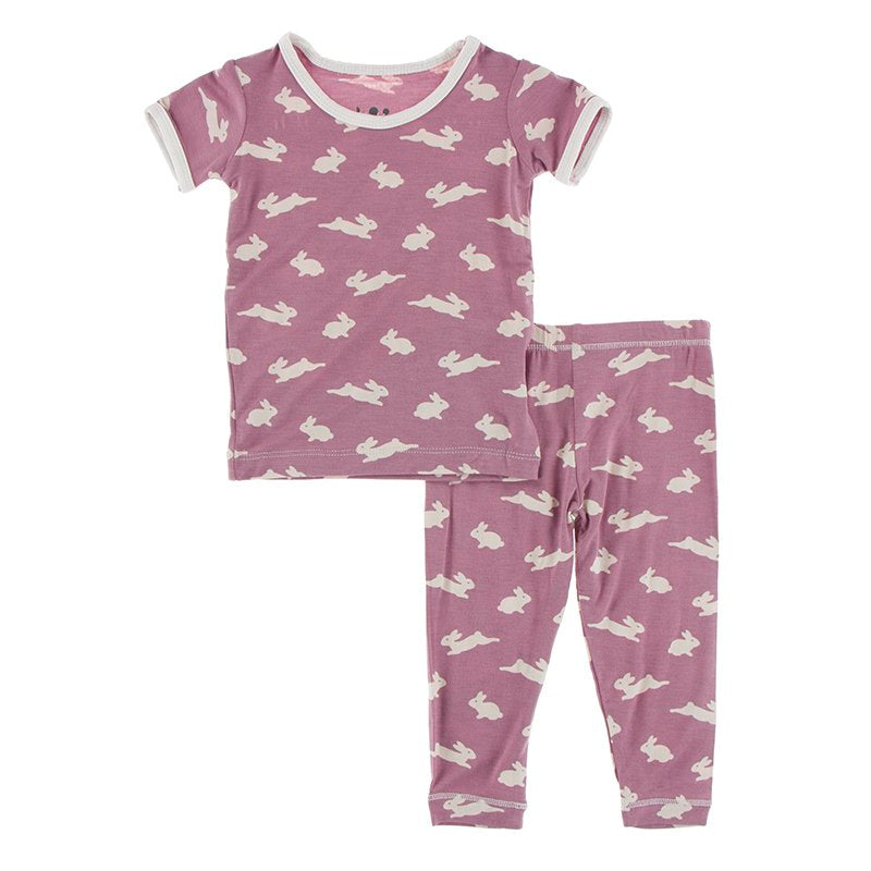 KicKee Pants Celebrations Print Short Sleeve Pajama Set Pegasus Bunny