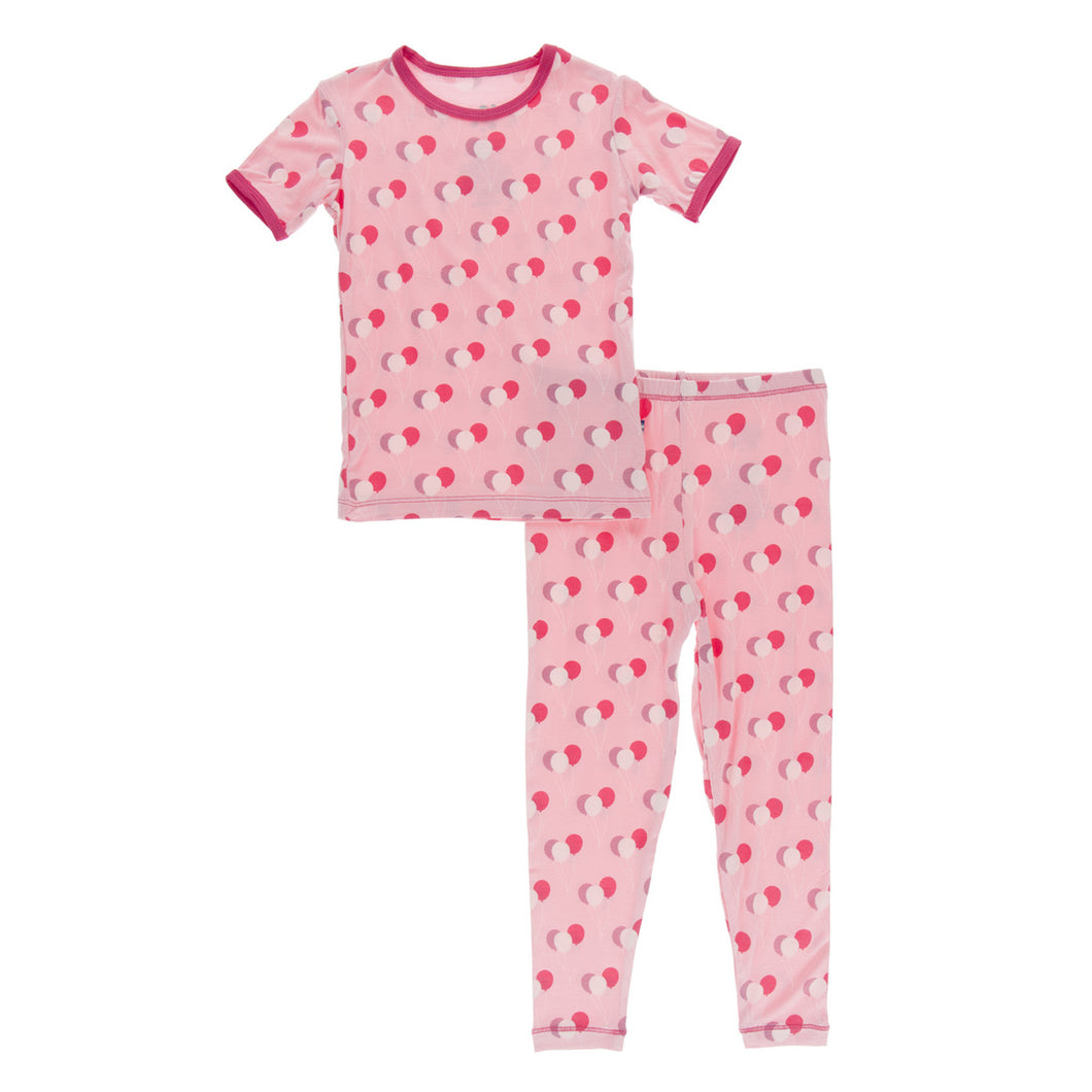 KICKEE PANTS PRINT SHORT SLEEVE PAJAMA SET LOTUS BIRTHDAY