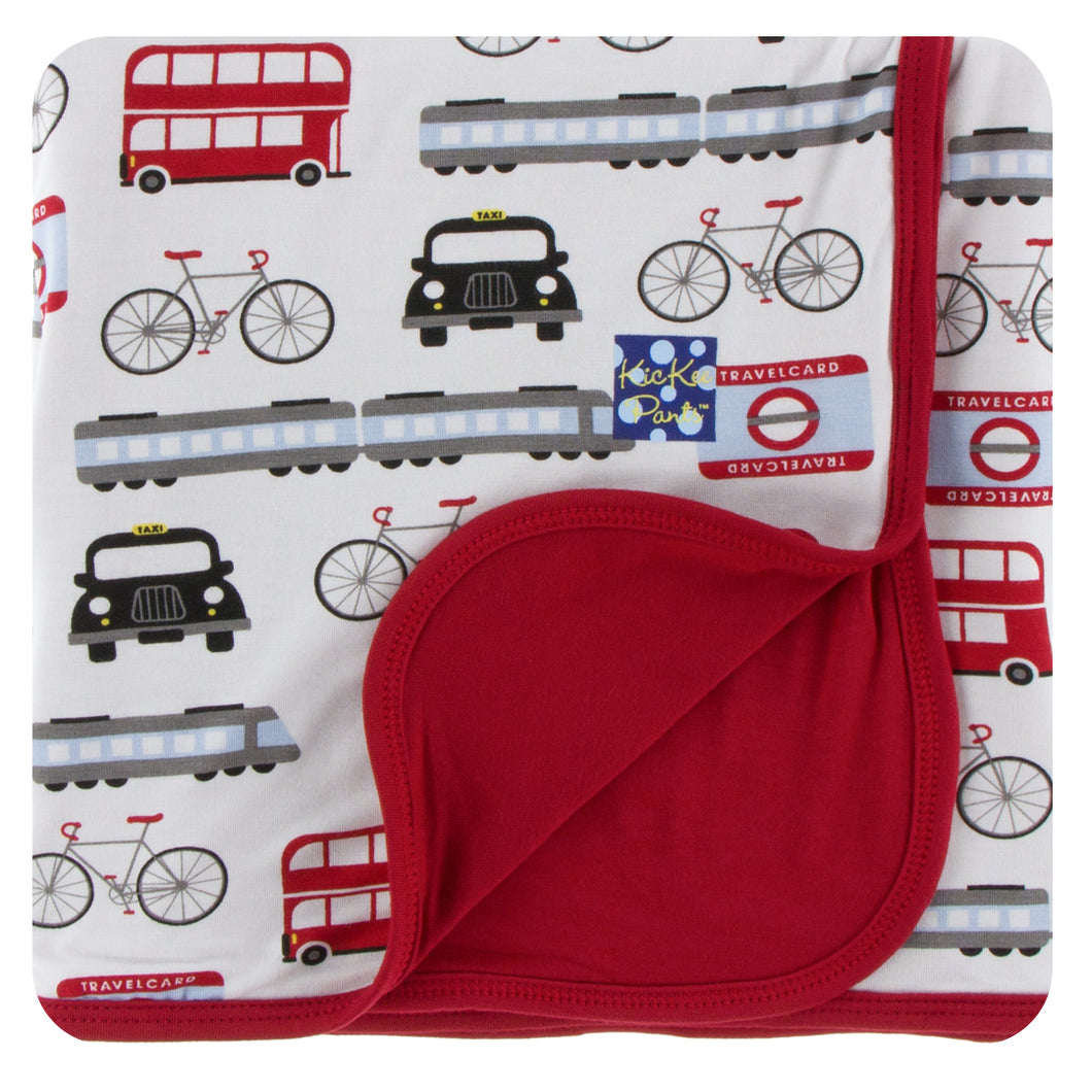 KicKee Pants Print Stroller Blanket - London Transport