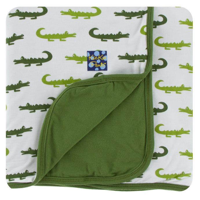 Kickee Pants Print Toddler Blanket in Natural Crocodile