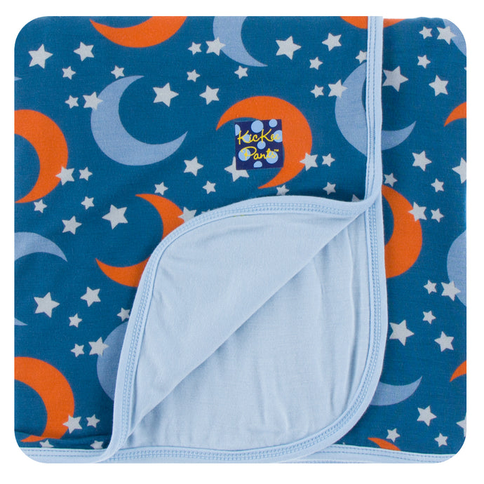 Kickee Pants Print Toddler Blanket in Twilight Moon and Stars