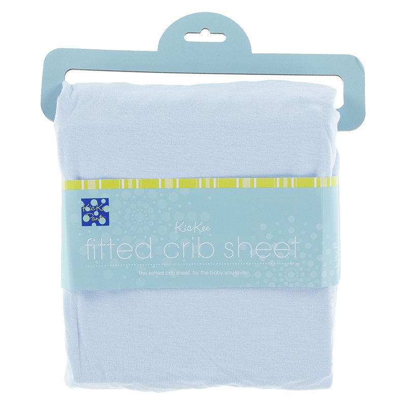 KicKee Pants Solid Fitted Crib Sheet - Pond