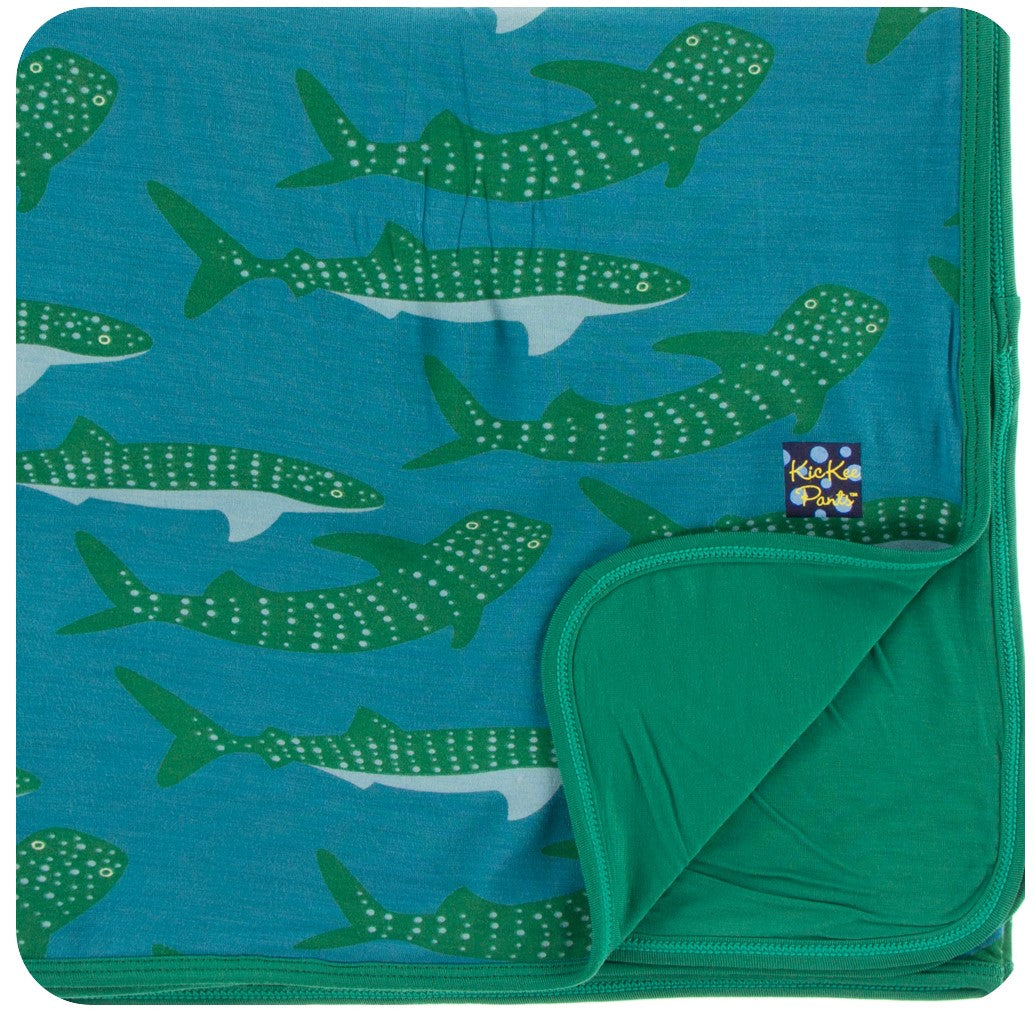 KicKee Pants Toddler Blanket - Seagrass Whale Shark