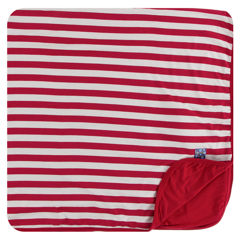 KicKee Pants Print Toddler Blanket - Candy Cane Stripe 2019