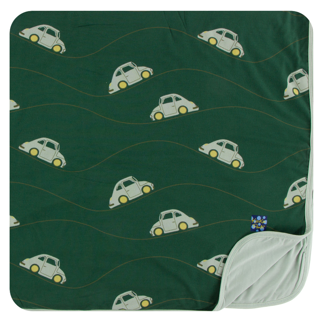 KicKee Pants Print Toddler Blanket - Topiary Italian Car