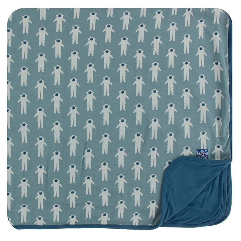 KicKee Pants Print Toddler Blanket - Dusty Sky Astronaut