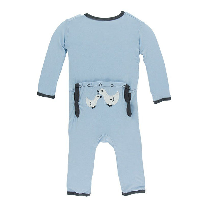 KicKee Pants Applique Coverall - Pond Ducks
