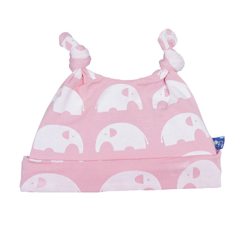 KicKee Pants Essentials Print Double Knot Hat - Lotus Elephant