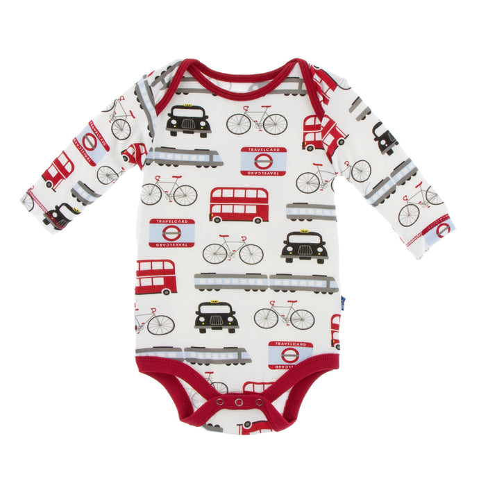 KicKee Pants Print Long Sleeve One Piece - London Transport