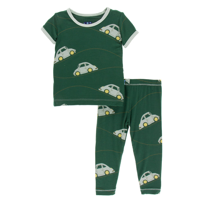 KicKee Pants Print Short Sleeve Pajama Set - Topiary Italian Car