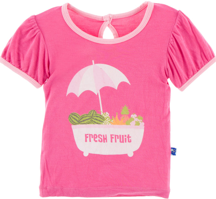 KicKee Pants Short Sleeve Piece Print Puff Tee - Fresh Fruit