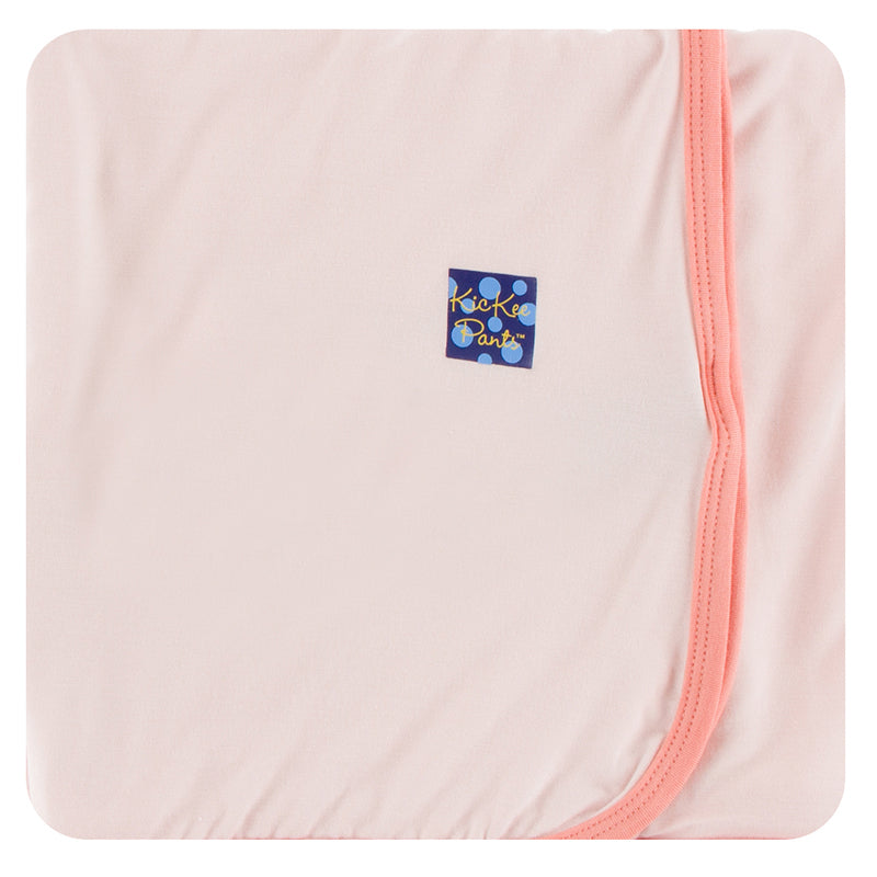 KicKee Pants Solid Swaddling Blanket - Macaroon with Blush