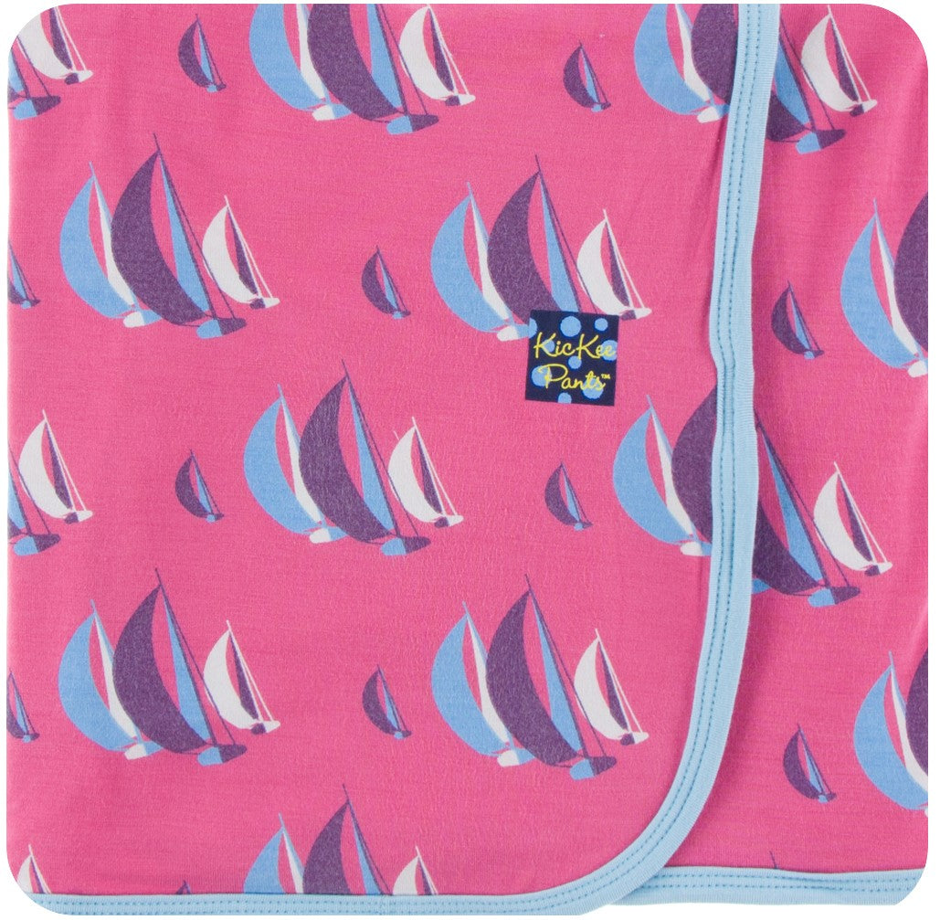 KicKee Pants Swaddling Blanket in Flamingo Sailing Race