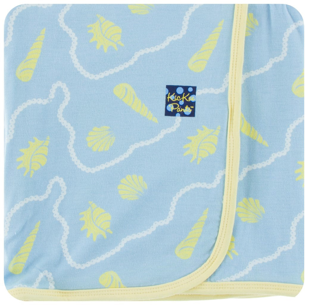 KicKee Pants Swaddling Blanket in Pond Shells