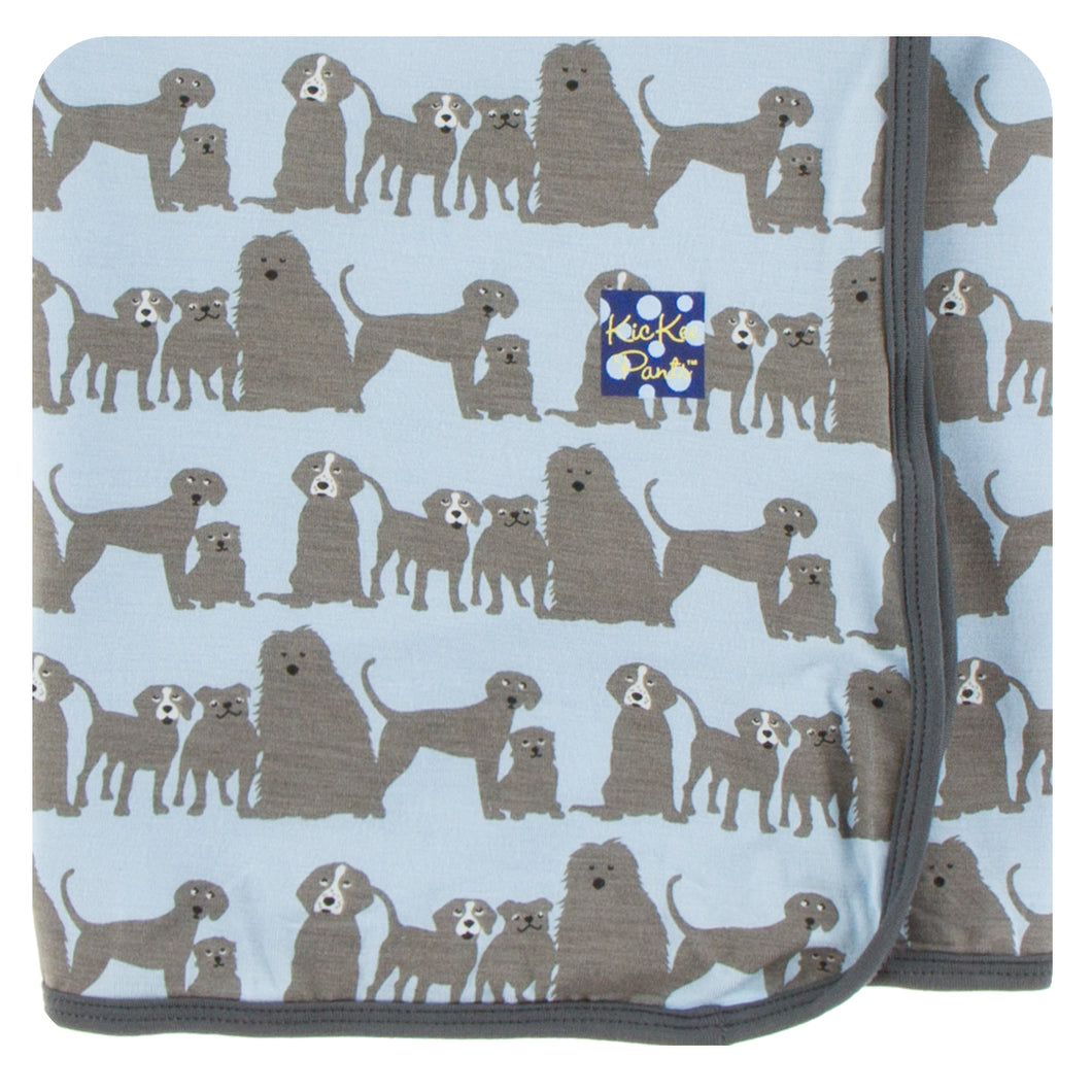 KicKee Pants Print Swaddling Blanket - London Dogs