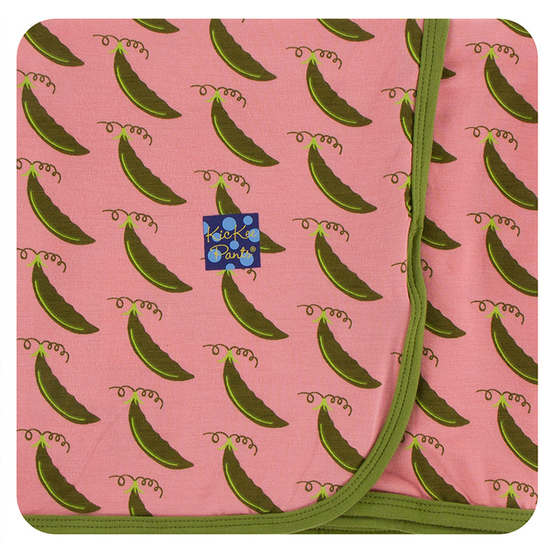 KicKee Pants Print Swaddling Blanket - Strawberry Sweet Peas