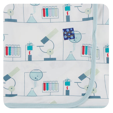 KicKee Pants Print Swaddling Blanket - Natural Chemistry Lab (PRESALE)