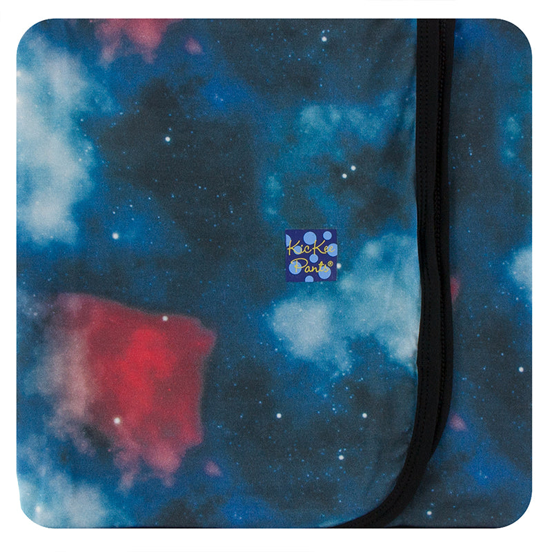 KicKee Pants Print Swaddling Blanket - Red Ginger Galaxy