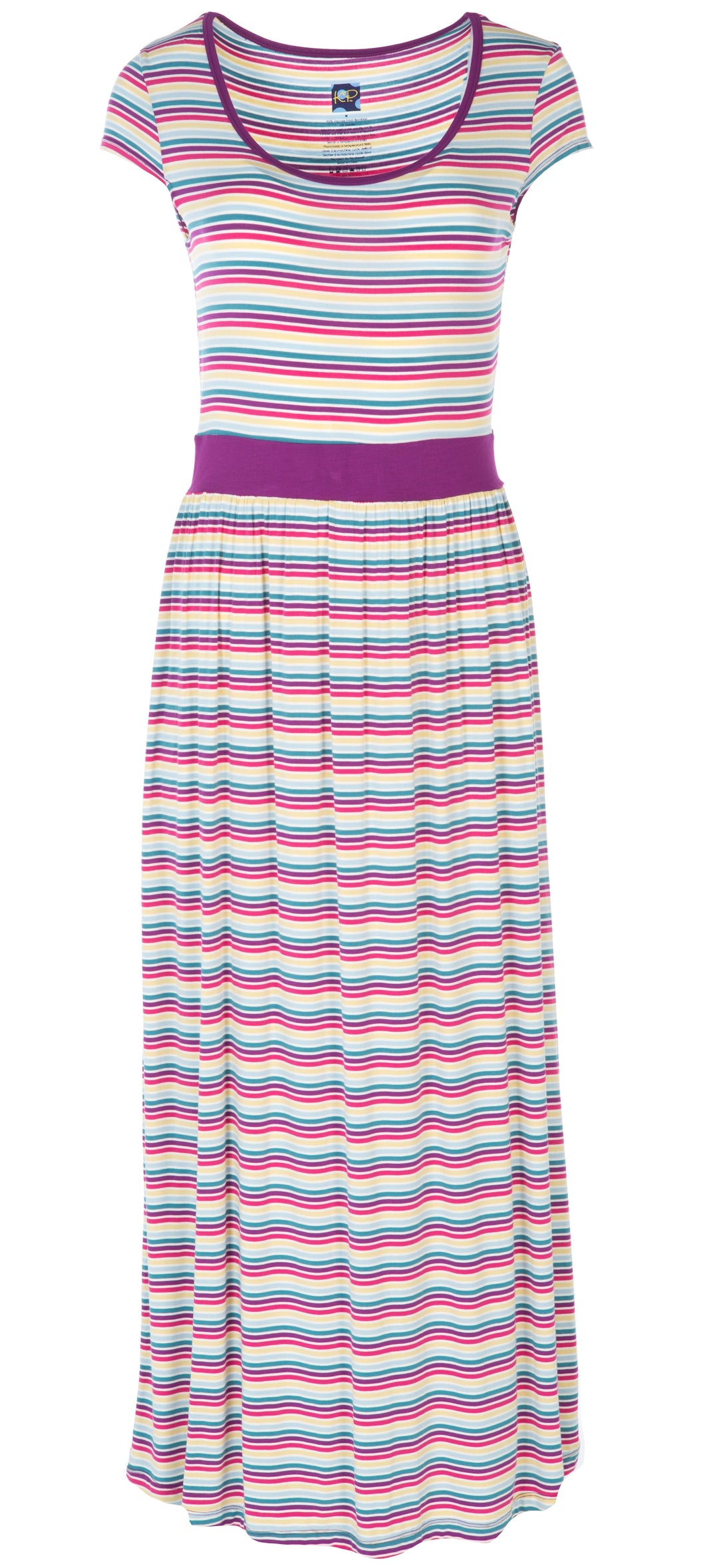 Kickee Pants Print Cap Sleeve Nightgown in Girl Perth Stripe