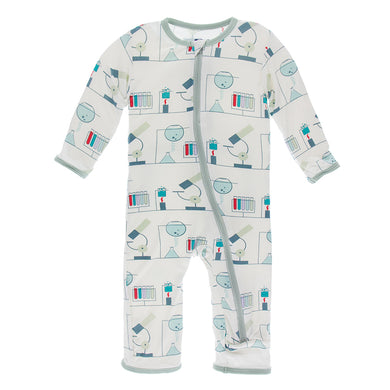KicKee Pants Print Coverall W/Zipper - Natural Chemistry Lab (PRESALES)