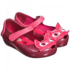 Mini Melissa Ultra Girl Cat - Pink Glitter (SALE)