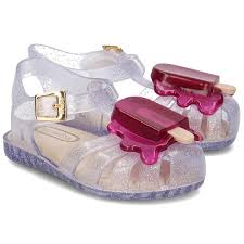 Mini Melissa Aranha Popsicle - Clear & Purple (SALE)