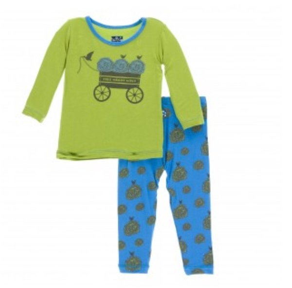 KicKee Pants Long Sleeve Pajama Set - River Hay Bales