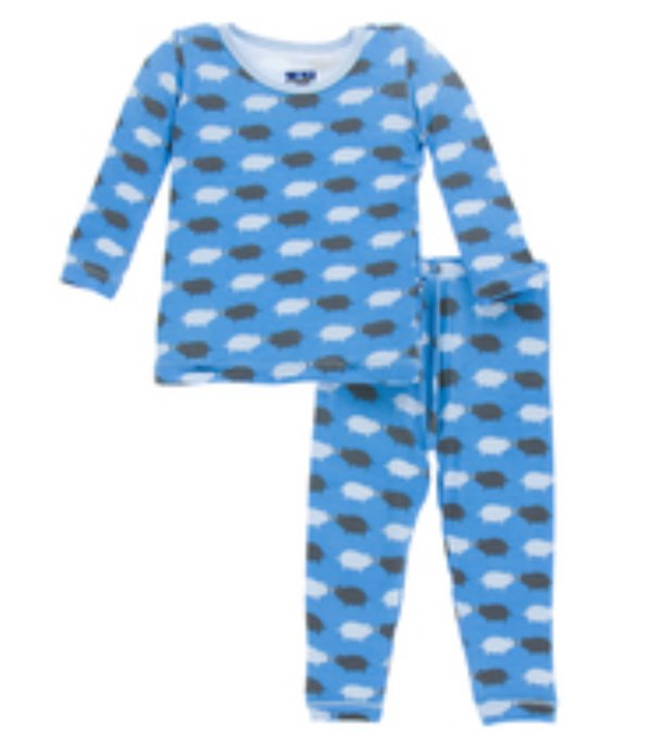 KicKee Pants Long Sleeve Pajama Set - River Pig