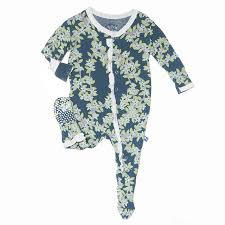 Kickee Pants Peacock Tree Canopy Footie w Snaps