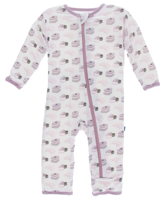 KicKee Pants Print Coverall W/Zipper  - Natural Sweet Treats