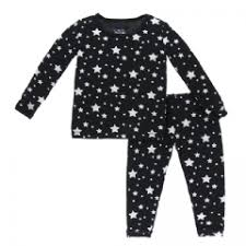 Kickee Pants Long Sleeve Pajama Set - Silver Stars