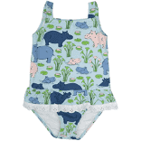 THE BEAUFORT BONNET COMPANY HIPPOS BATHING SUIT