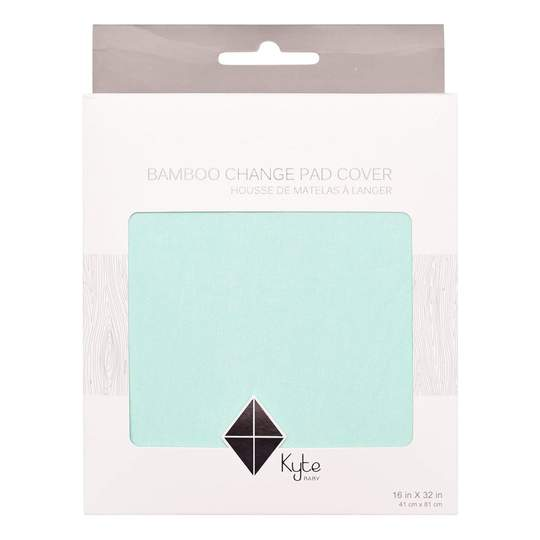 KYTE CHANGE PAD COVER IN SEA MIST