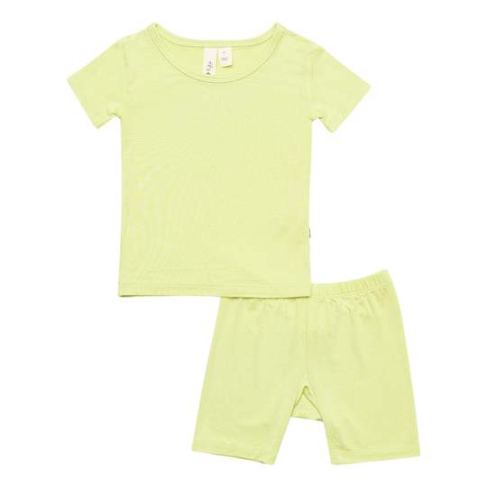 KYTE SHORT SLEEVE TODDLER PAJAMA SET IN KIWI
