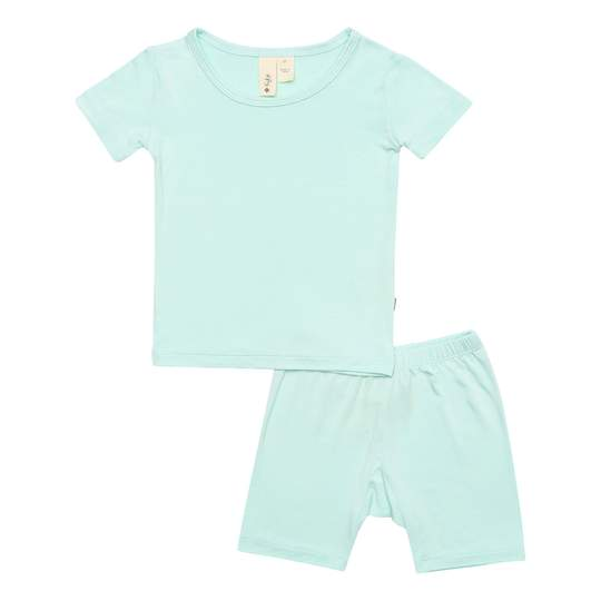 KYTE SHORT SLEEVE TODDLER PAJAMA SET IN SEA MIST