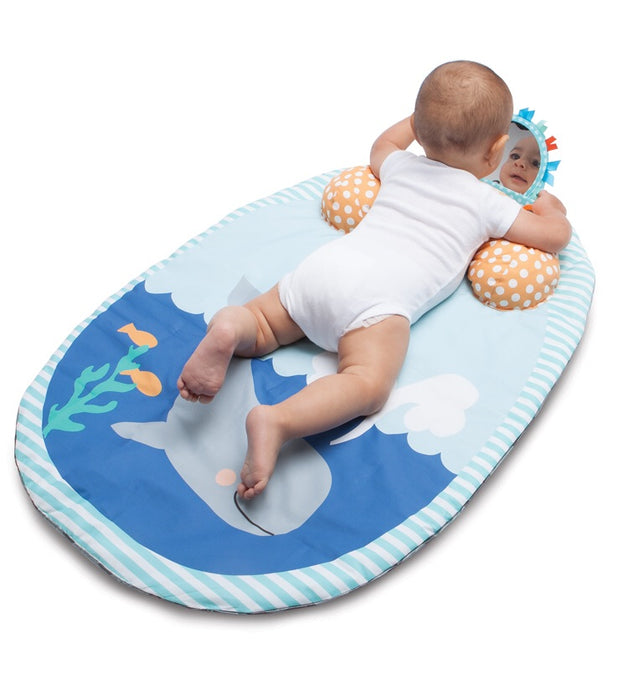 Boppy Tummy Time To Go Whale Spout Pad - Gray